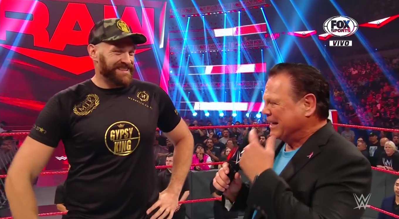 "Tyson Fury y Braun Strowman Jerry ""The King"" Lawler WWE Raw"