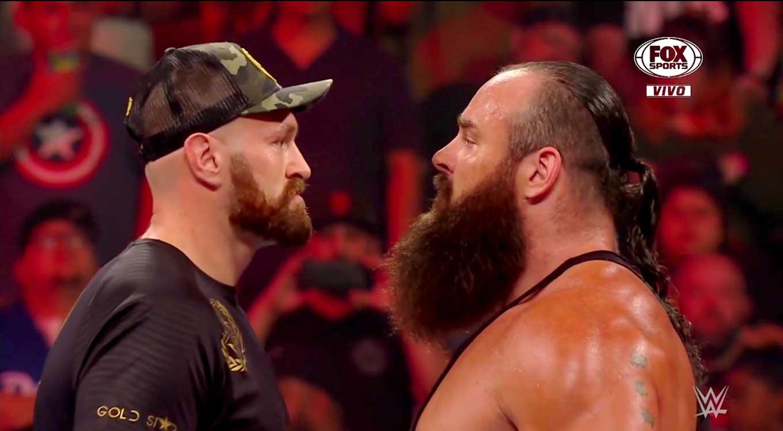 Tyson Fury y Braun Strowman arman un caos violento en Raw 1