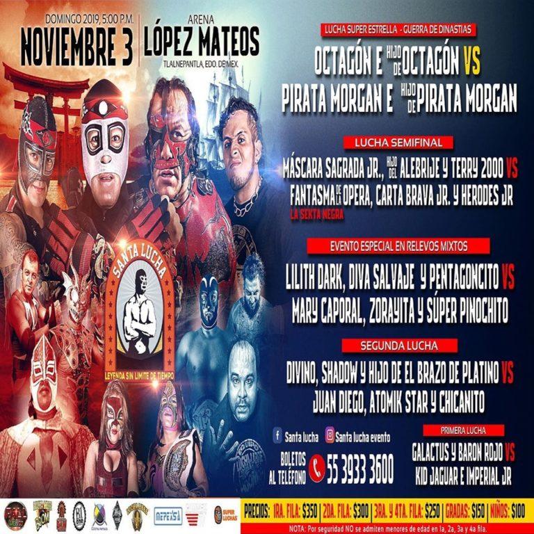 Guerra de Dinastías el Domingo 3 de Noviembre en la Arena Lopez Mateos 1
