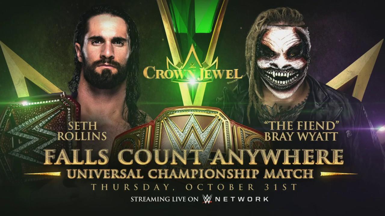 Seth Rollins vs The Fiend en WWE Crown Jewel 2019