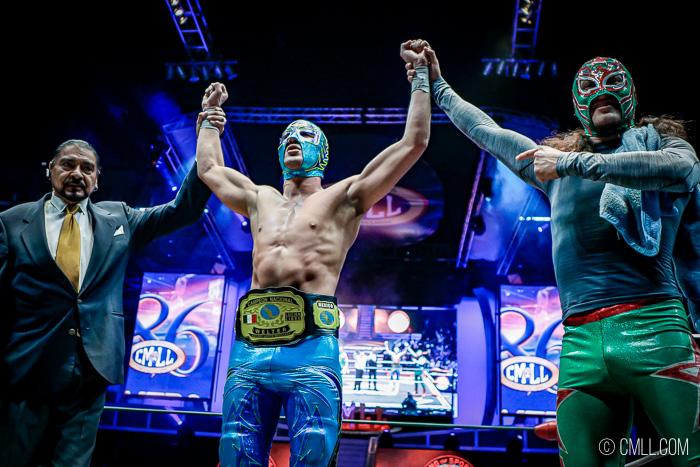 CMLL: Soberano Jr. logró la novena defensa de su cetro Welter 19