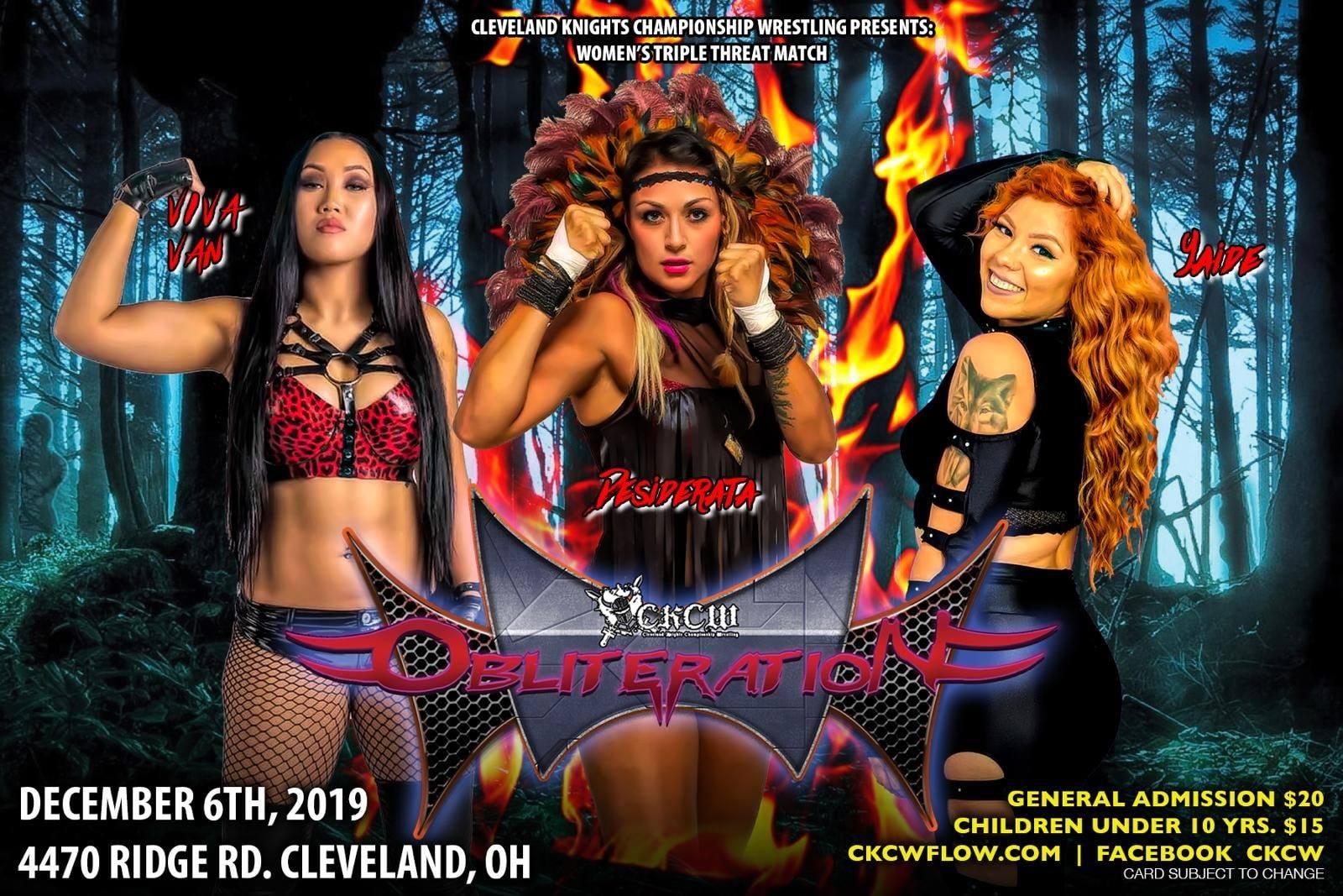 Cartel final para CKCW Obliteration en Cleveland, Ohio 4