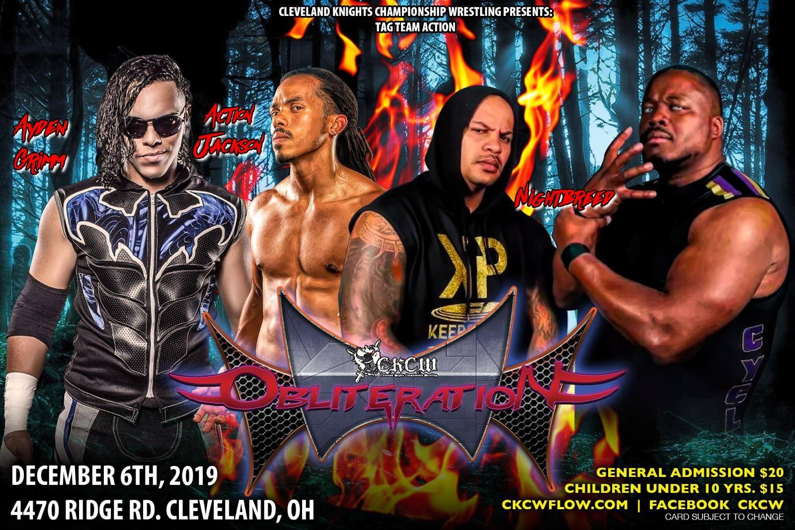 Cartel final para CKCW Obliteration en Cleveland, Ohio 3