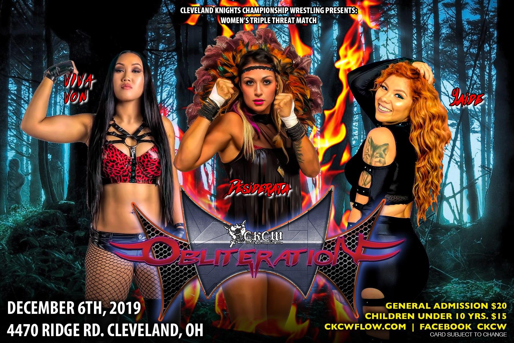 Triple Amenaza Femenil en Obliteration en Cleveland 19