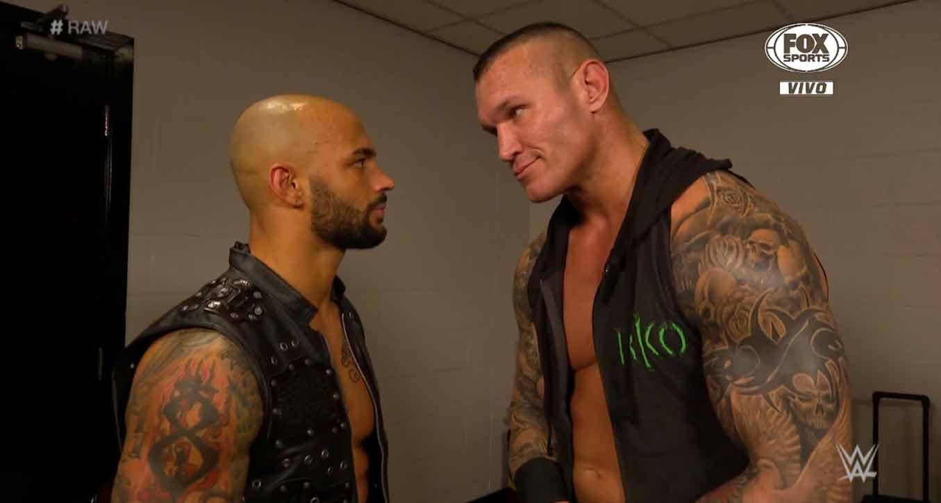 Ricochet y Randy Orton