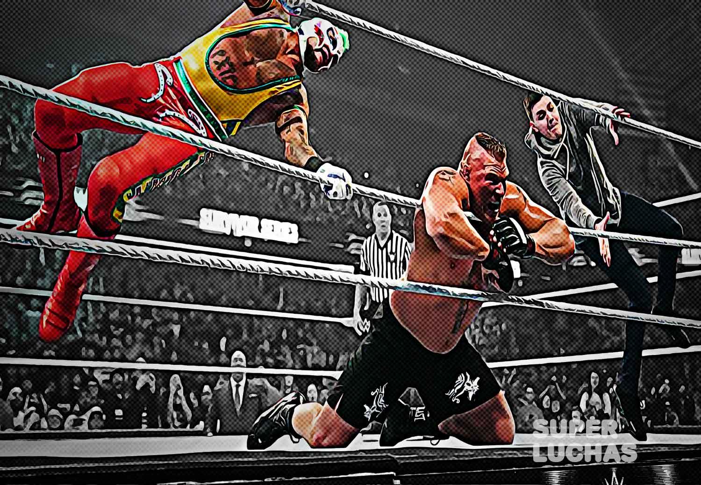 Rey Mysterio y Dominik vs. Brock Lesnar