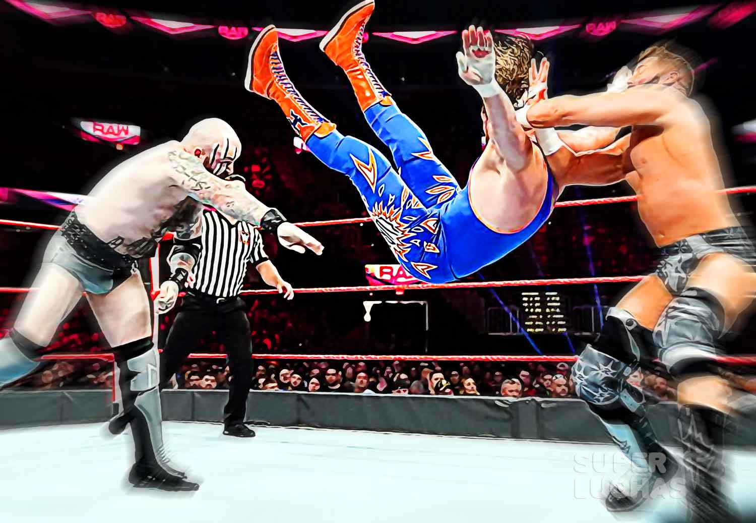 Viking Raiders vs Curt Hawkins y Zack Ryder