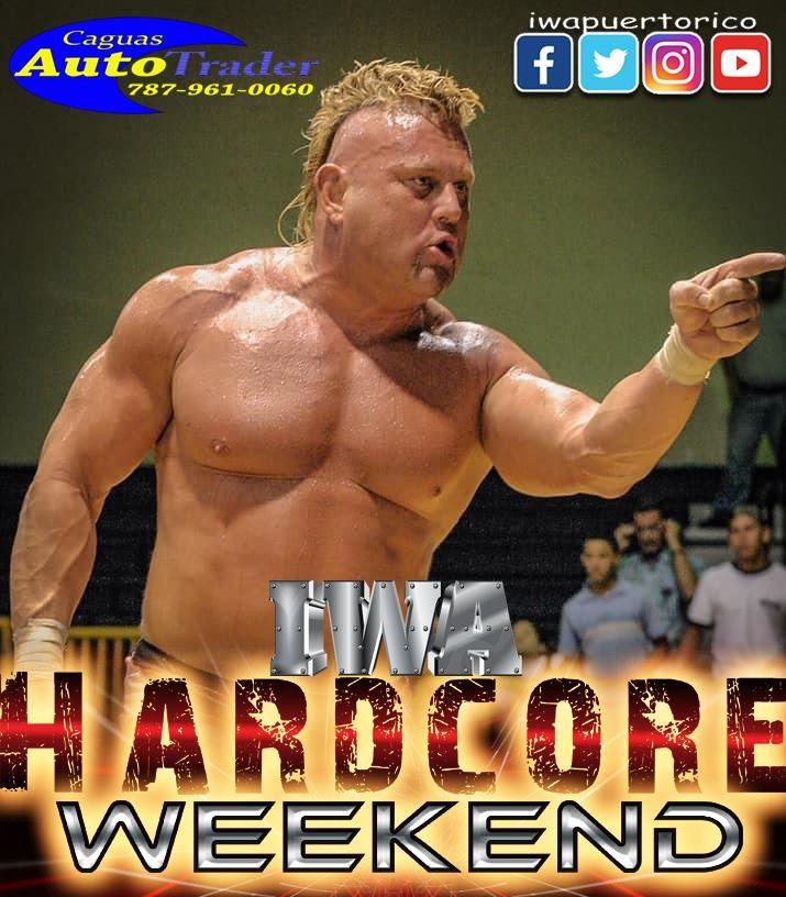 IWA Puerto Rico le rinde homenaje al Búfalo Bison en Hardcore Weekend 1
