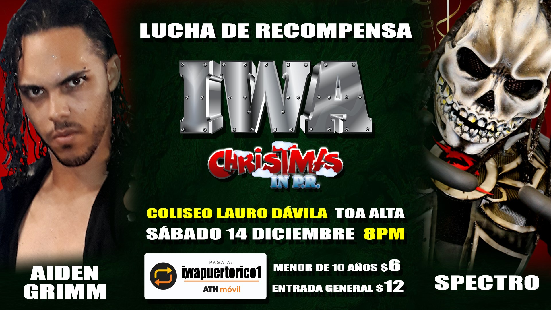 Cartel final para Christmas in PR - Savio Vega frente a Thunder 3