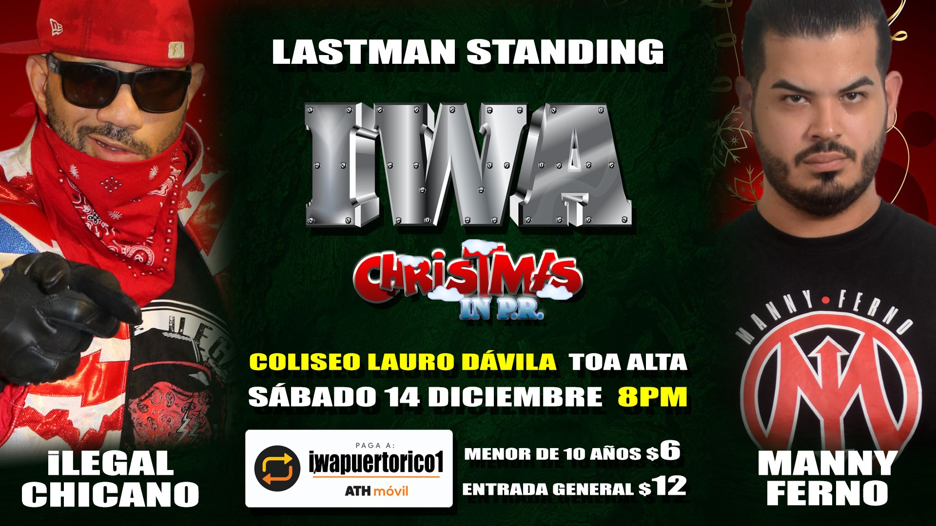 Cartel final para Christmas in PR - Savio Vega frente a Thunder 5