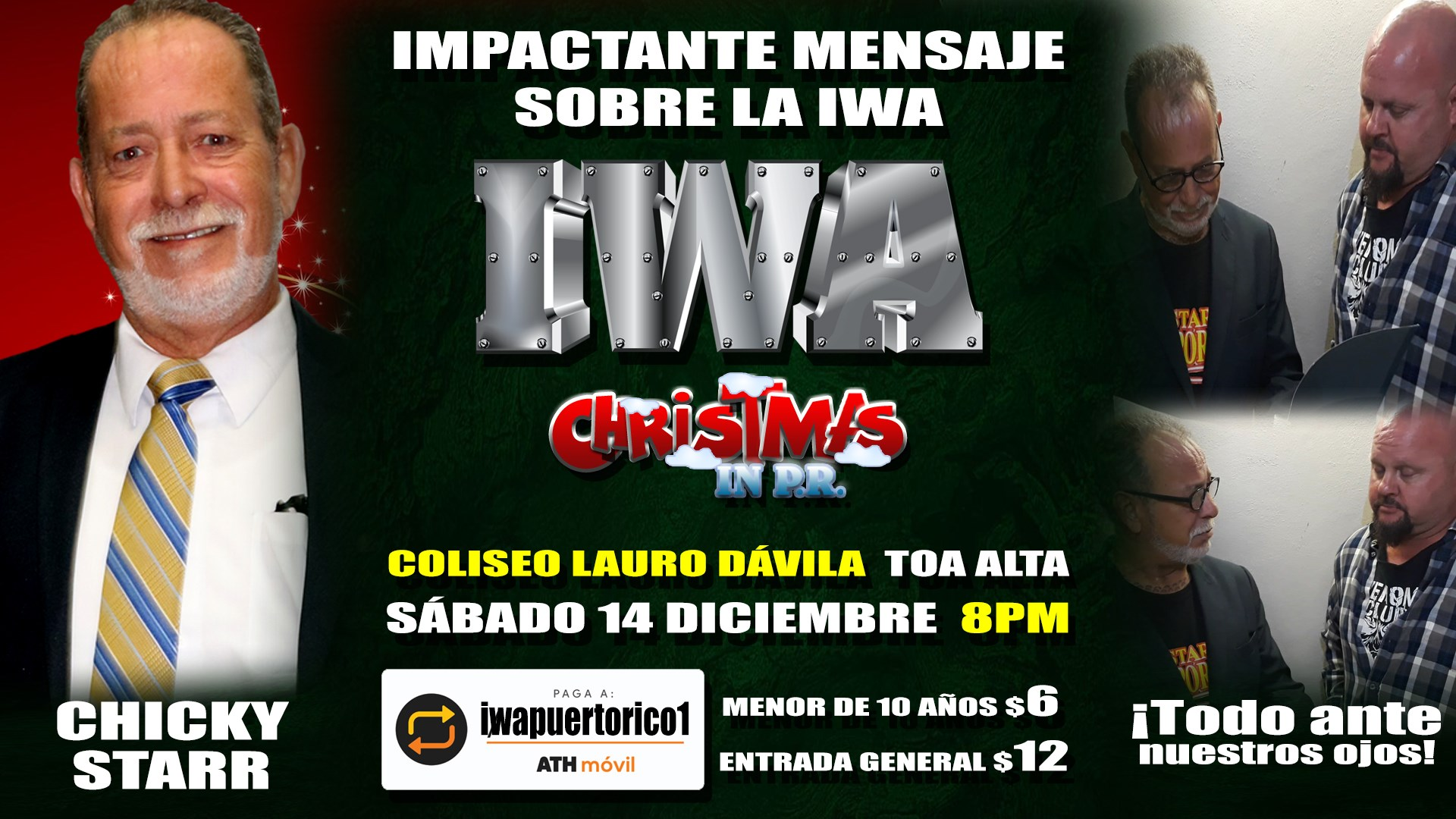 Cartel final para Christmas in PR - Savio Vega frente a Thunder 7