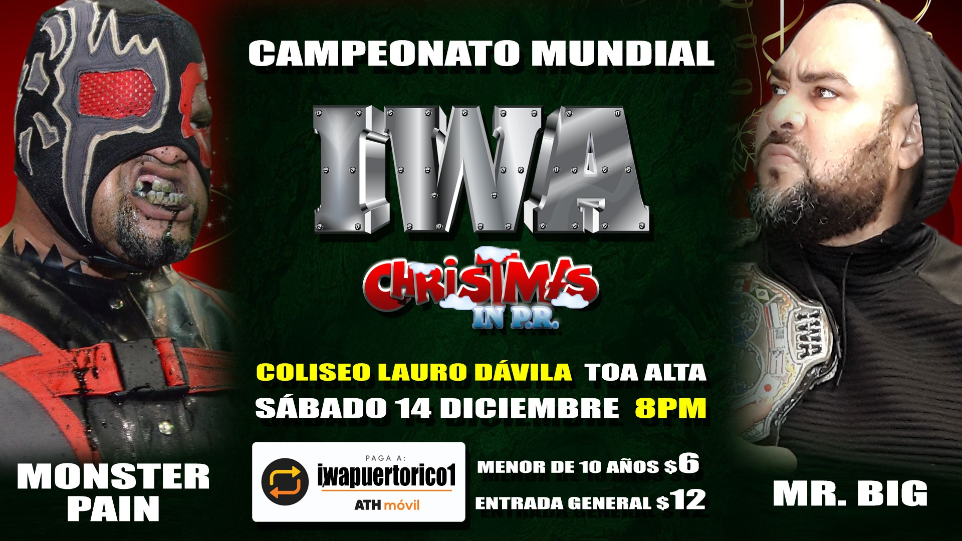 Cartel final para Christmas in PR - Savio Vega frente a Thunder 9