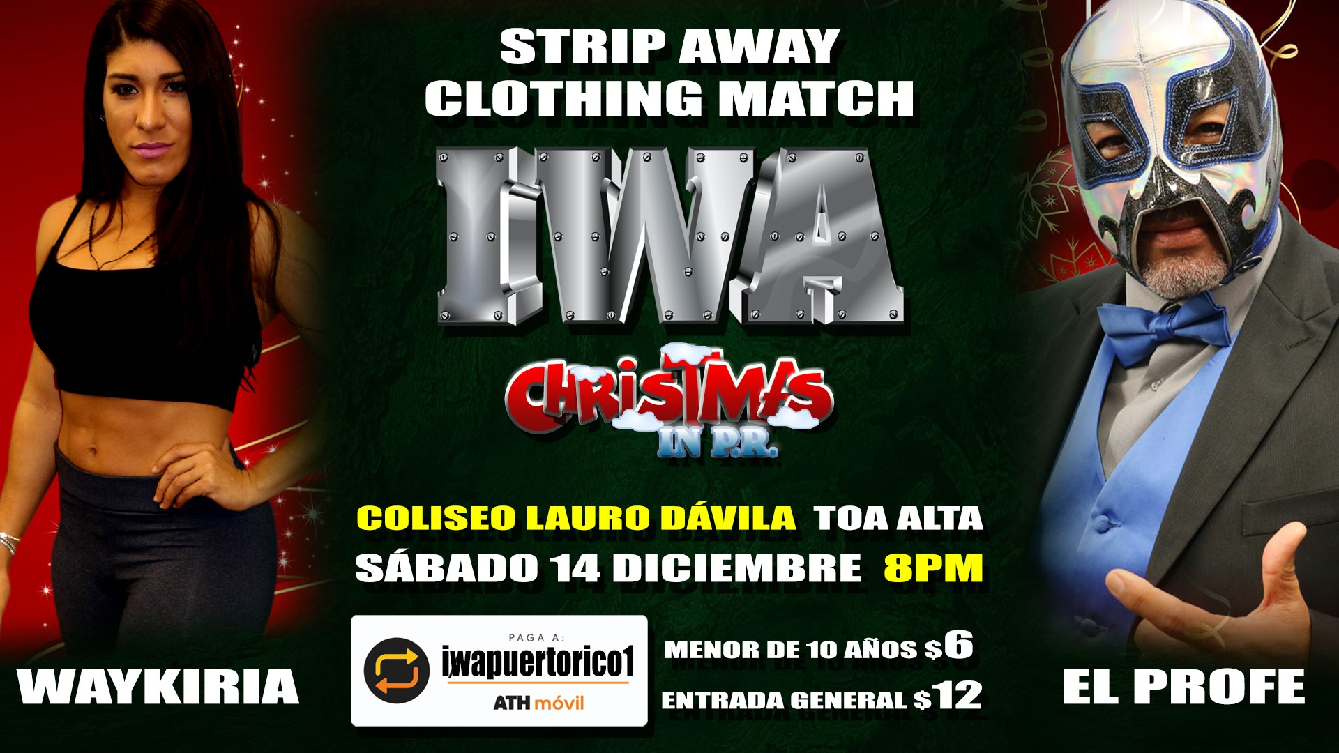 Cartel final para Christmas in PR - Savio Vega frente a Thunder 10