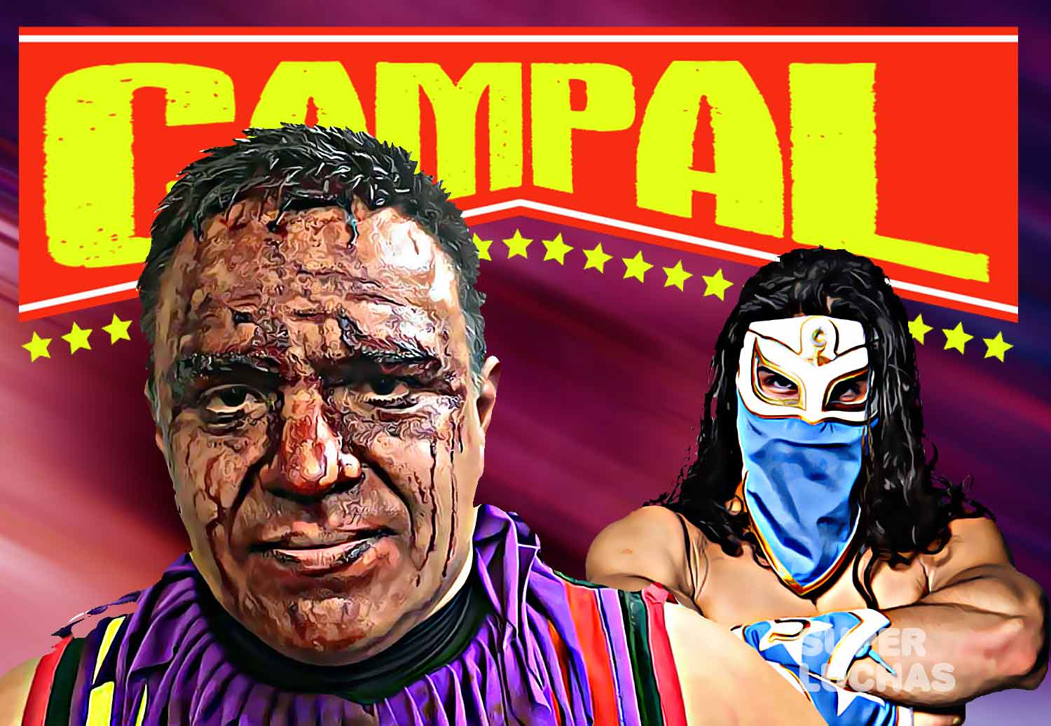 CAMPAL: Monsther Clown sin máscara y Bandido en el CMLL