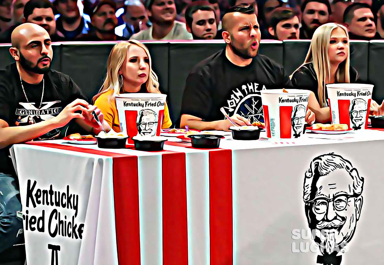 La curiosa mesa de KFC en TLC 2019
