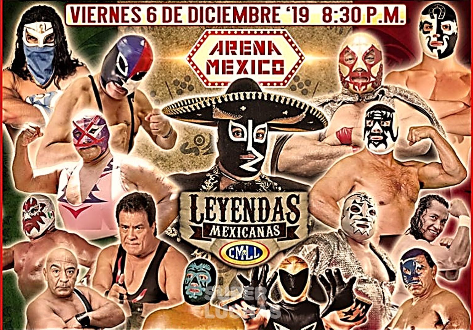 CMLL: Las Leyendas Mexicanas engalanan la Arena México 1