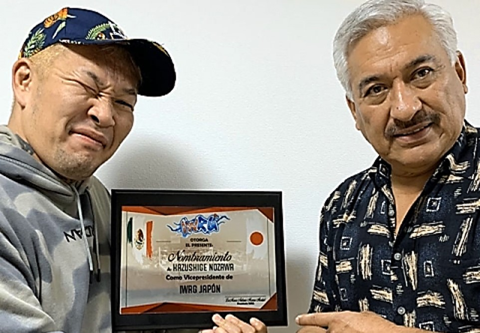 NOSAWA Rongai y Marco Moreno firman la alianza NOAH - IWGR 9