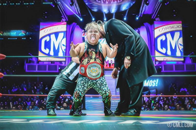 CMLL: Chamuel, primer monarca mundial de Micro Estrellas 1