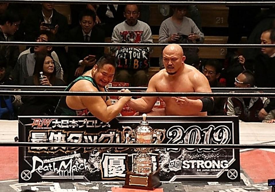 """BJW: """"Saikyou Tag League 2019"""" Okabayashi e Irie, ganadores 4"""