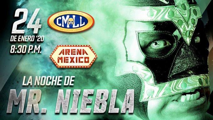 Homenaje a Mr. Niebla en la Arena México 2
