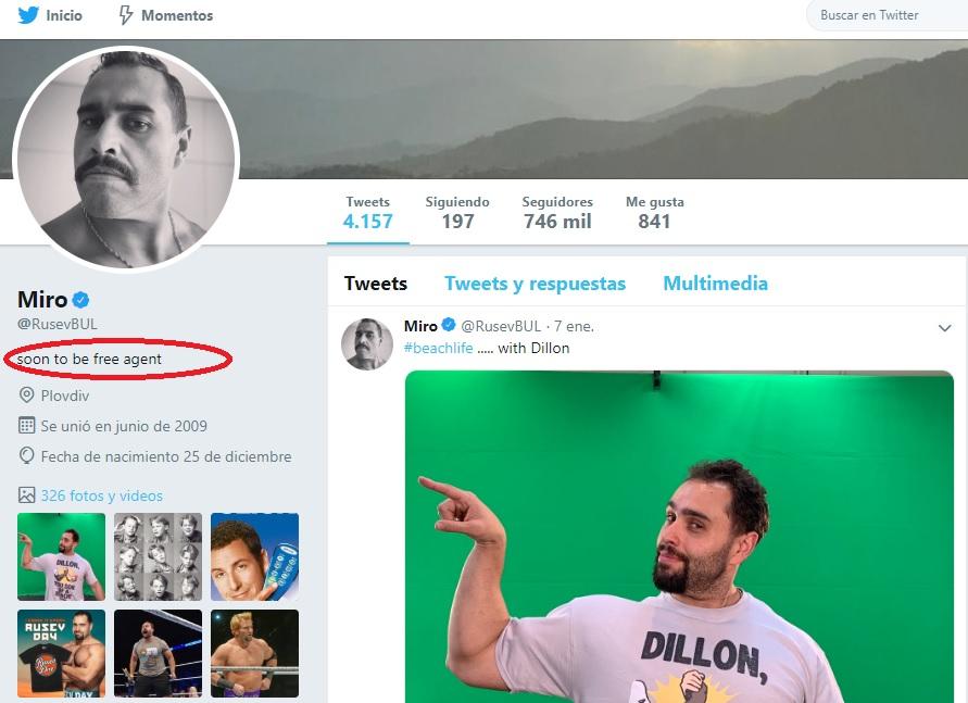 ¿Rusev se va de WWE? / Twitter.com/RusevBUL