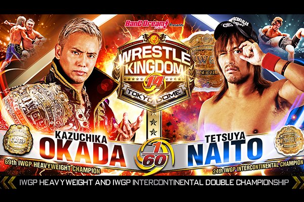 Naito vs. Okada por el Double Gold Dash en Wrestle Kingdom 14 2