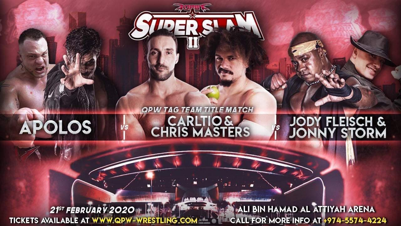 QPW: Cartel final para SUPER SLAM en Qatar - Alberto el Patrón a defender su Campeonato 4
