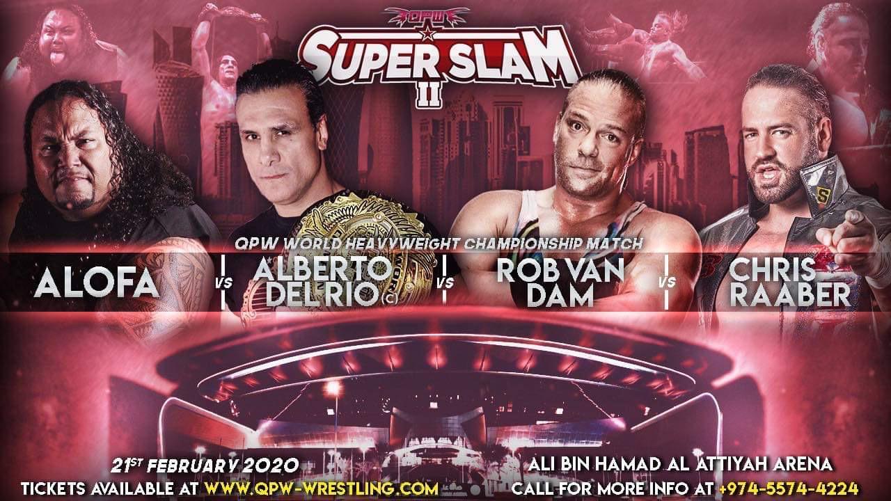 QPW: Cartel final para SUPER SLAM en Qatar - Alberto el Patrón a defender su Campeonato 6