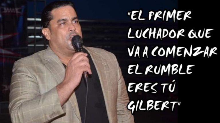 """Ray Gonzalez: """"El primer luchador que va a comenzar el Rumble eres tu GILBERT"""" 2"""