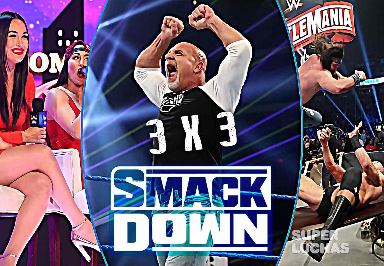 3x3 SmackDown 21 de febrero 2020