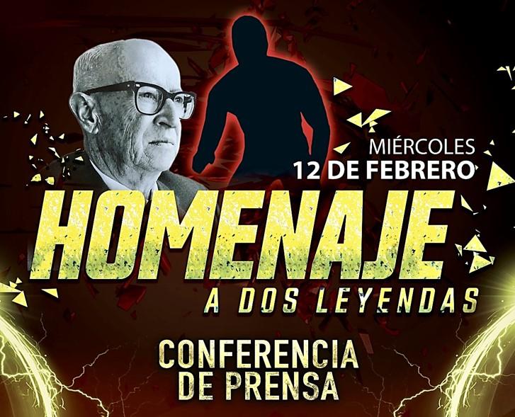 """CMLL: """"Homenaje a Dos Leyendas 2020"""" Conferencia de prensa- Sangre Chicana, homenajeado 2"""