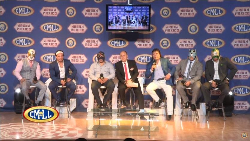 """CMLL: """"Homenaje a Dos Leyendas 2020"""" Conferencia de prensa- Sangre Chicana, homenajeado 4"""