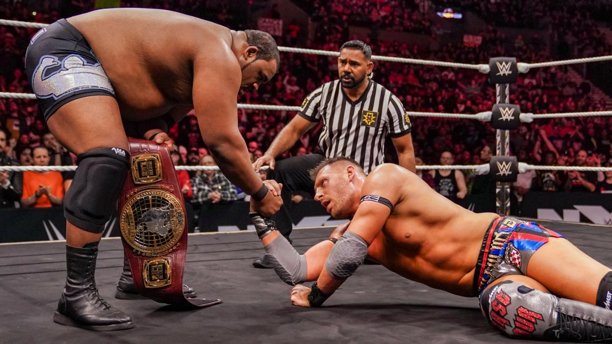 Dominik Dijakovic reta a AJ Styles