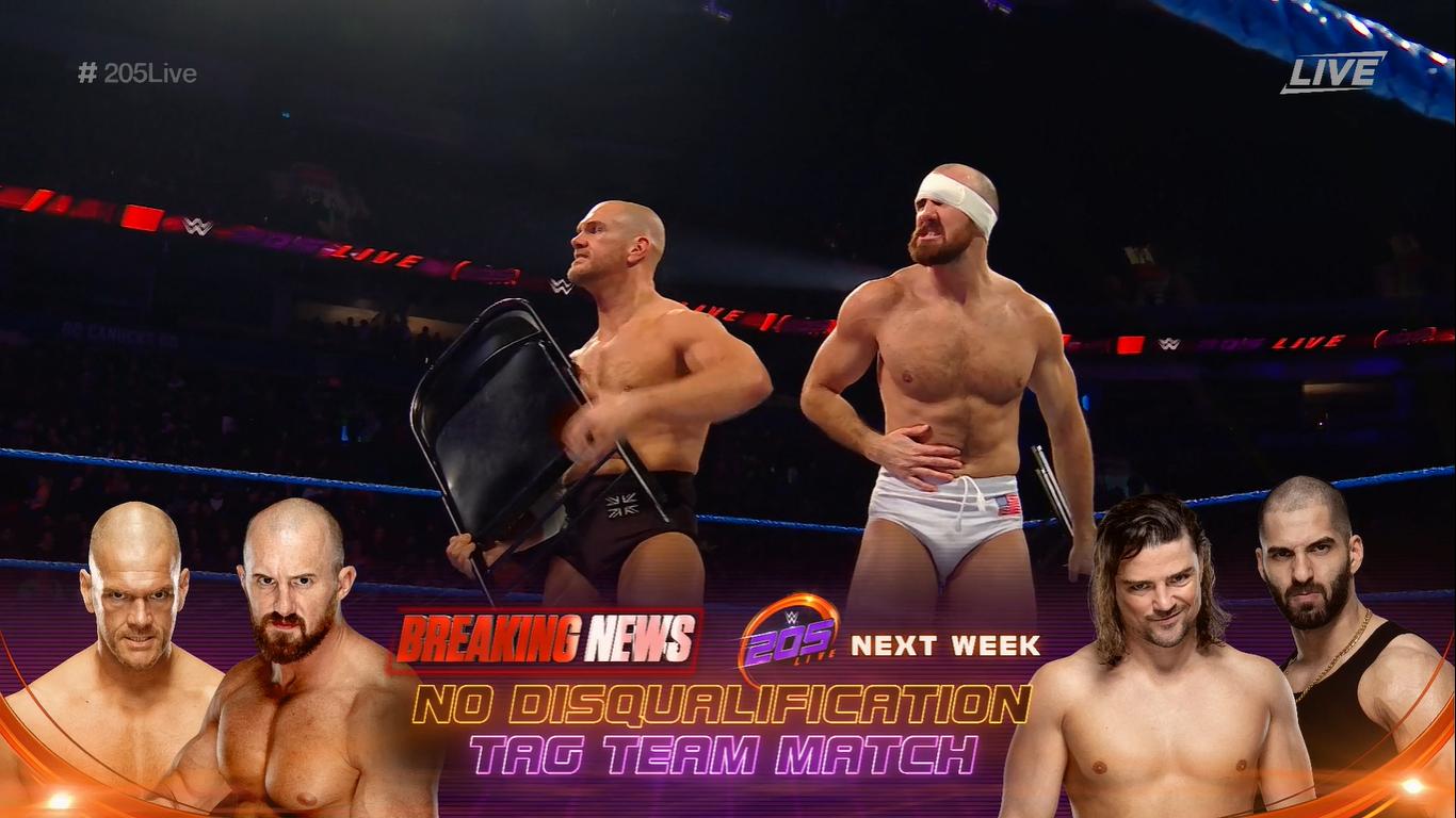 205 LIVE (14 de febrero 2020) | Resultados en vivo | Burch y Lorcan vs. The Singh Bros. 16