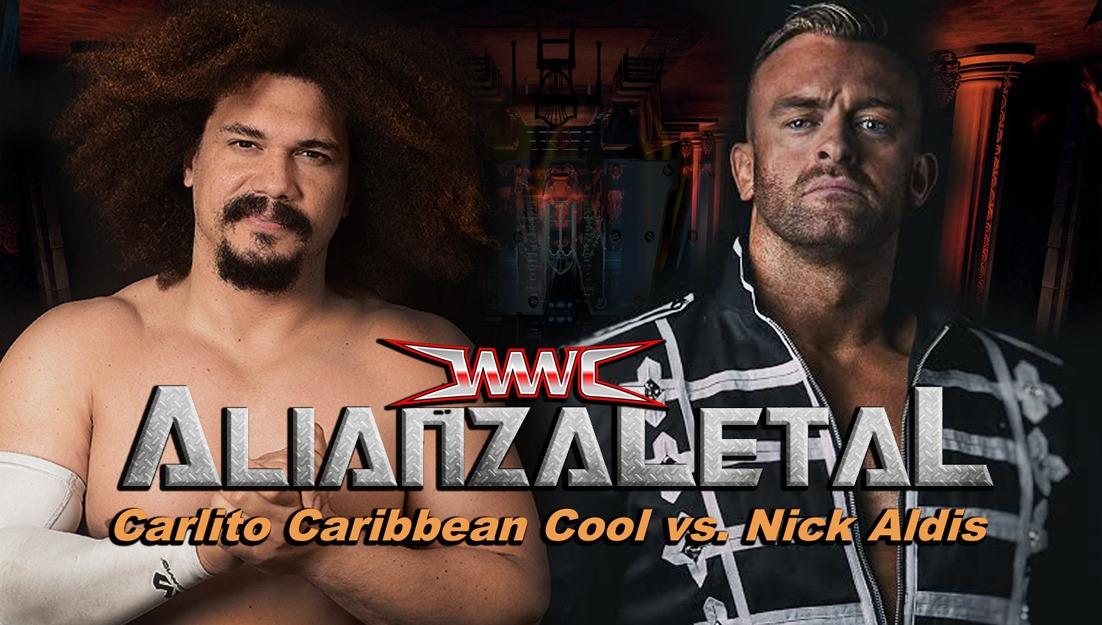 Carlito frente a Nick Aldis por el Campeonato de la NWA en Puerto Rico 1