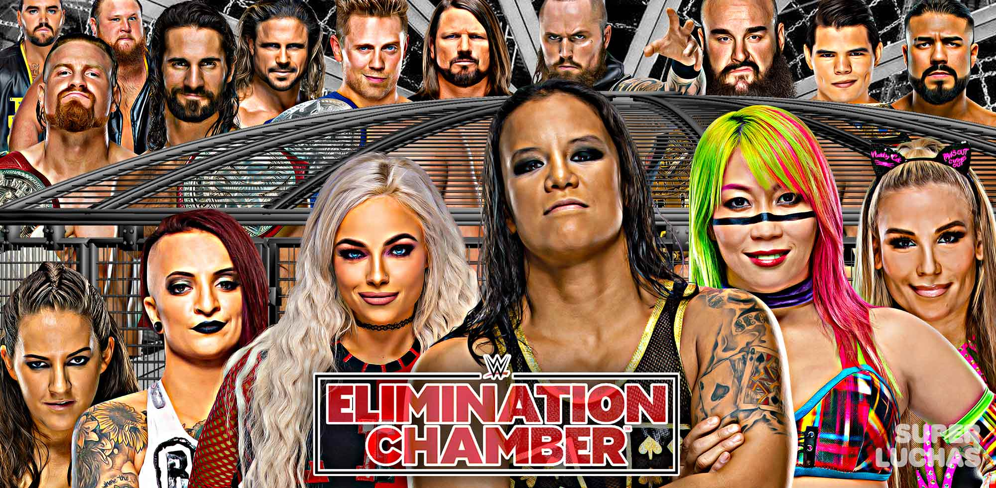 Resultados WWE Elimination Chamber 2020