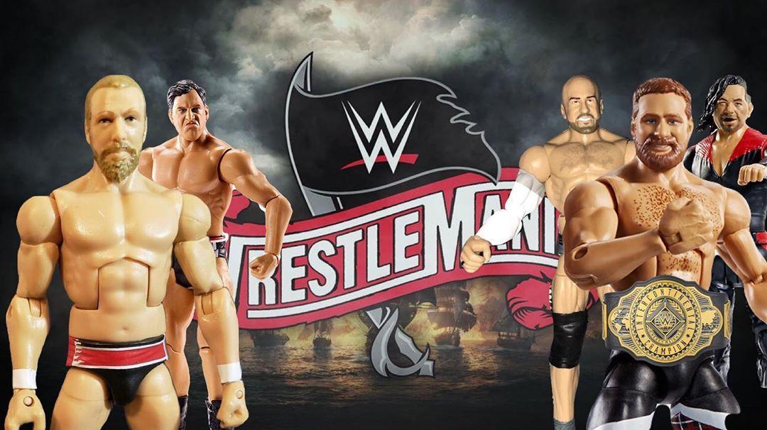 Daniel Bryan vs Sami Zyan por el Campeonato Intercontinental WWE en WWE WrestleMania 36 / Instagram.com/NYWrestlingandToys