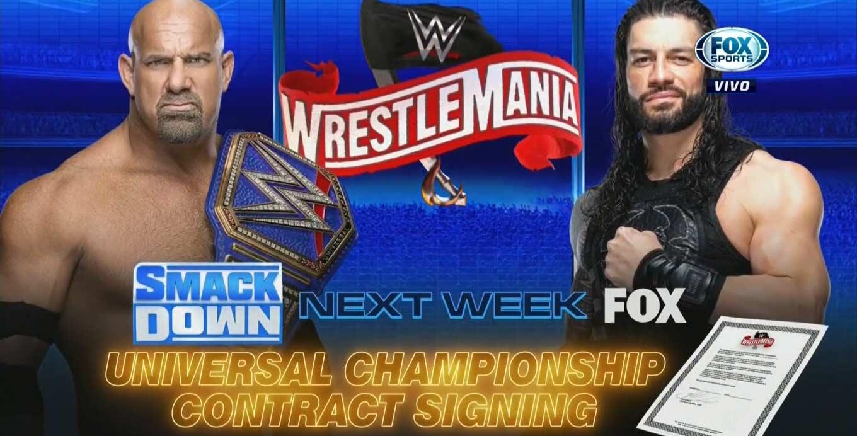 Goldberg vs. Roman Reigns Roman Reigns fuera de WrestleMania 36