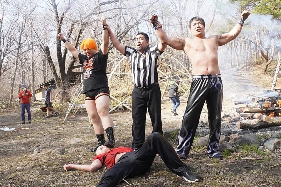 "DDT: ""Nasukogen Nature School Pro Wrestling Again!"" Lucha en el campamento 1"