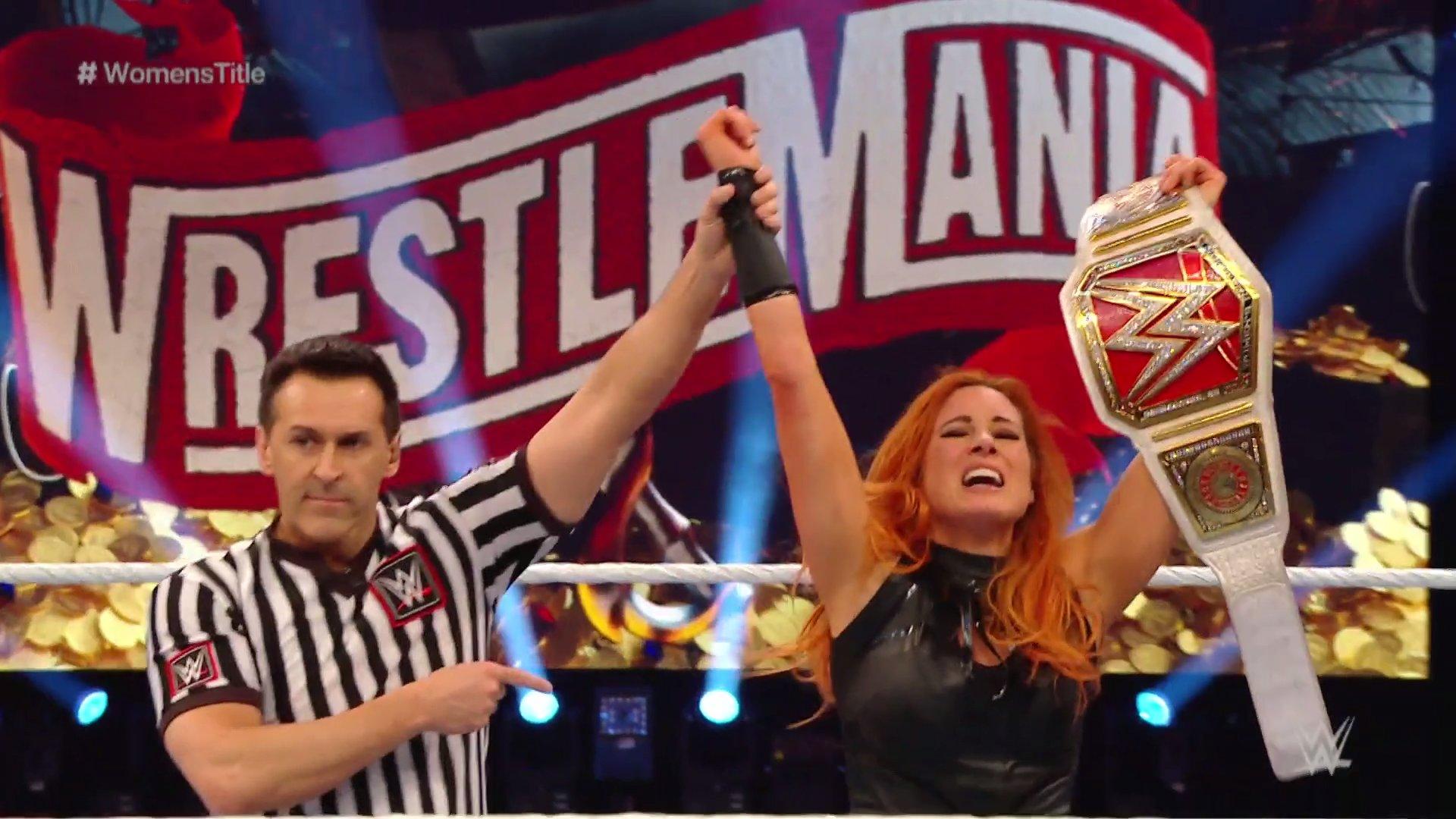 Becky Lynch hace historia en WWE WrestleMania 36