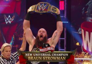 Braun Strowman nuevo Campeón Universal WWE en WWE WrestleMania 36 (04/04/2020)
