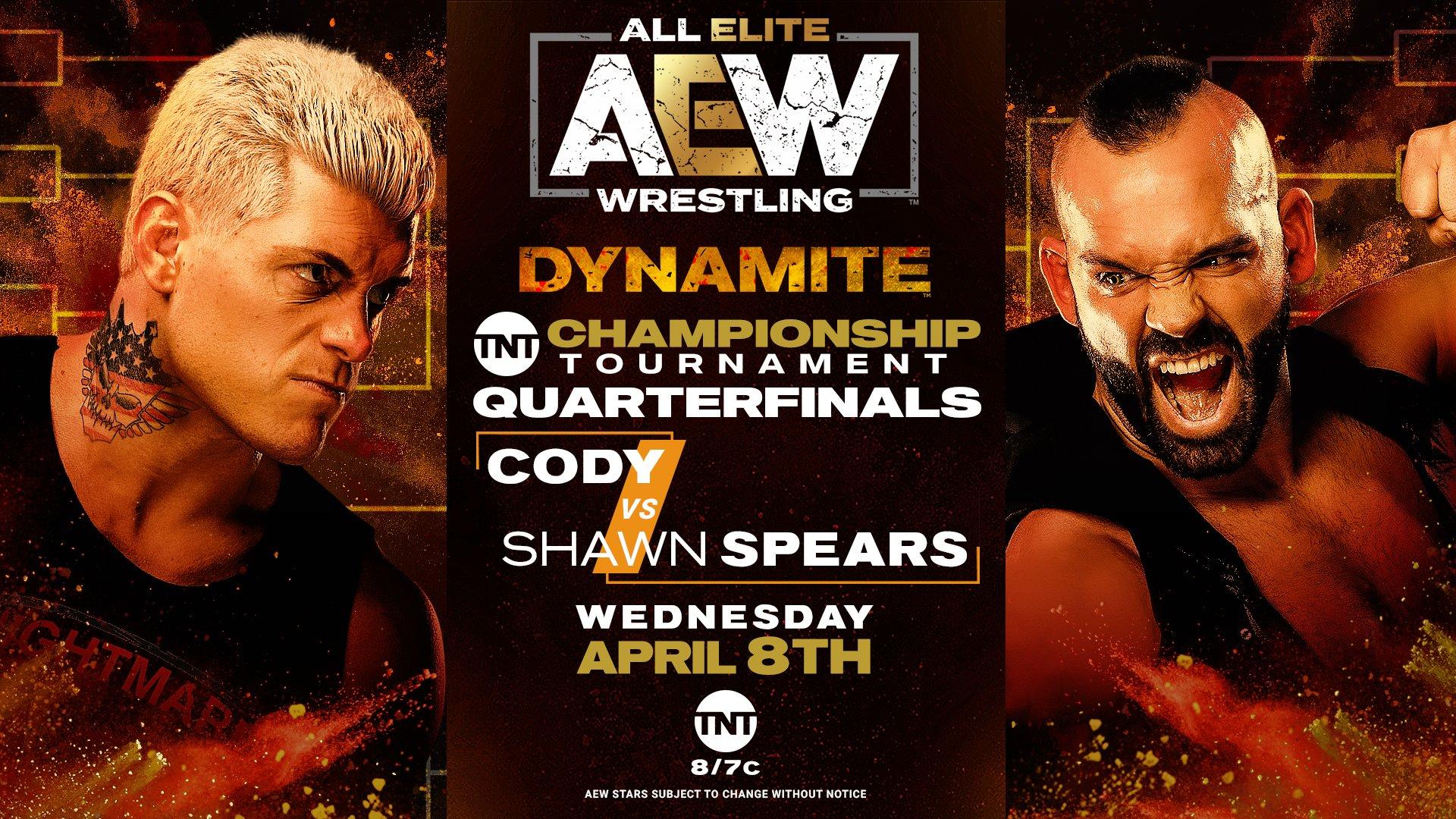 Cody vs Shawn Spears en AEW Dynamite (08/04/2020)