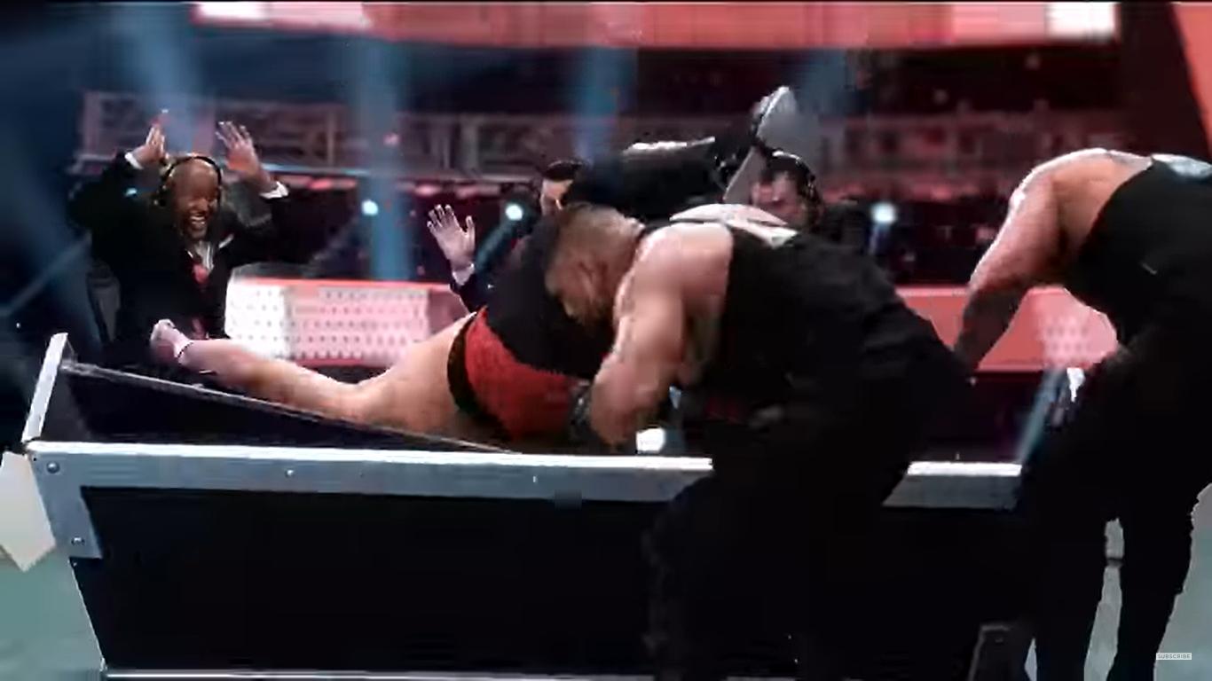 la lesión de Samoa Joe