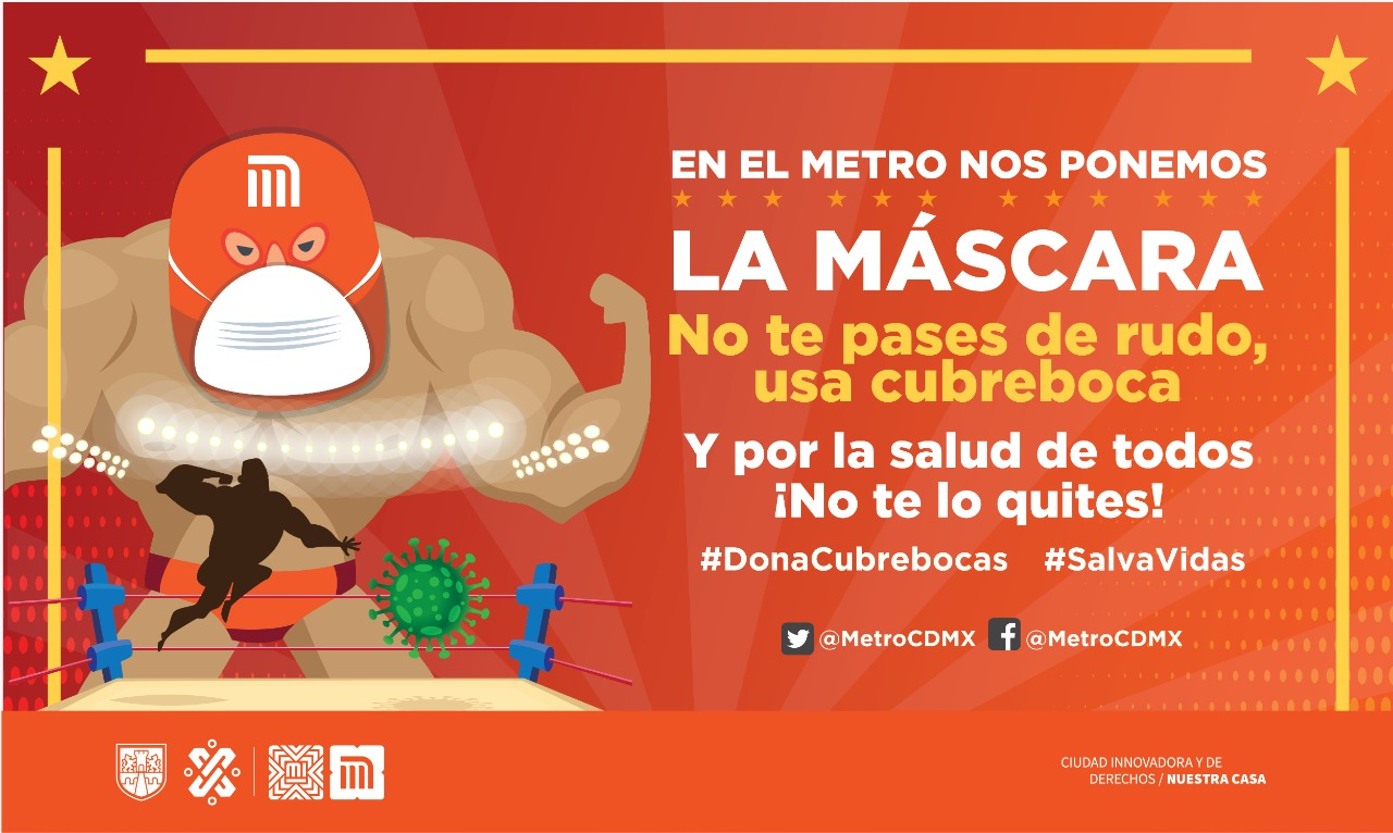 Fighters and the CDMX subway invite the campaign
