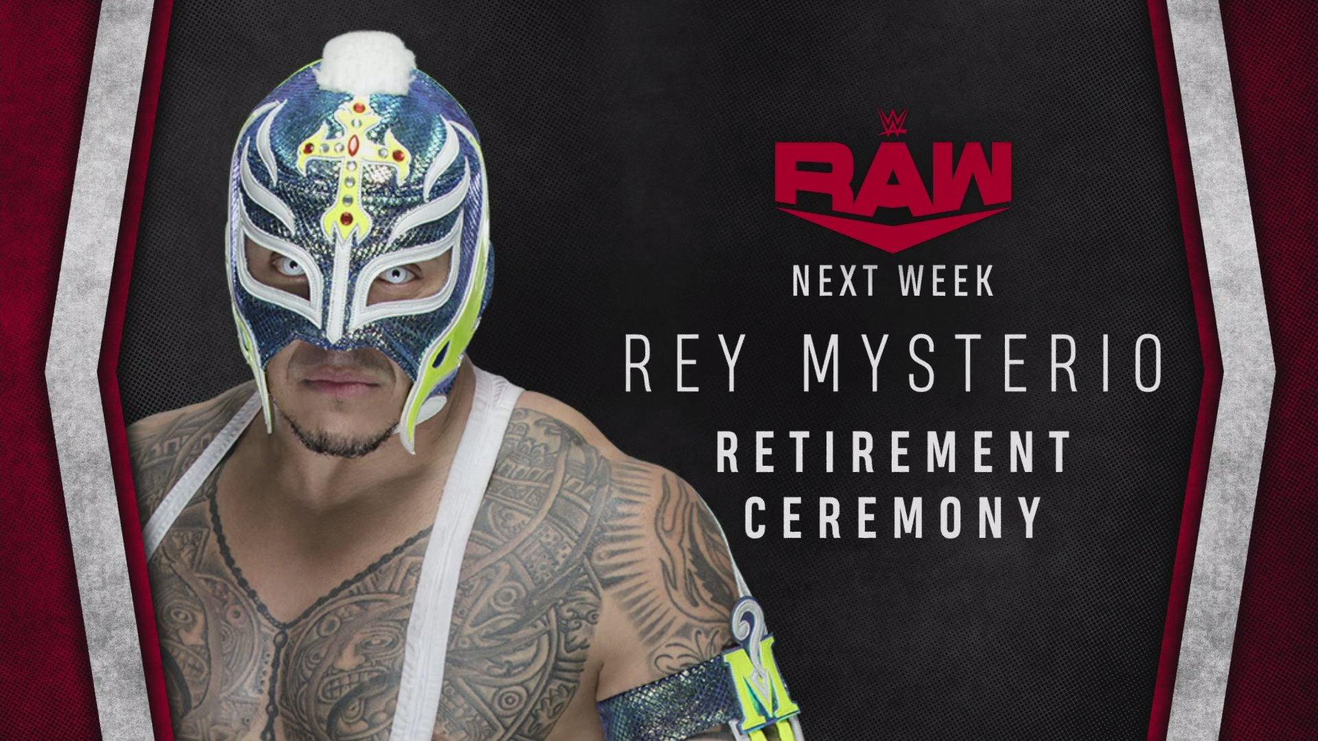 Rey Mysterio se retirará en Raw (WWE Raw - 01/06/2020) / WWE Rey Mysterio se retirará en Raw