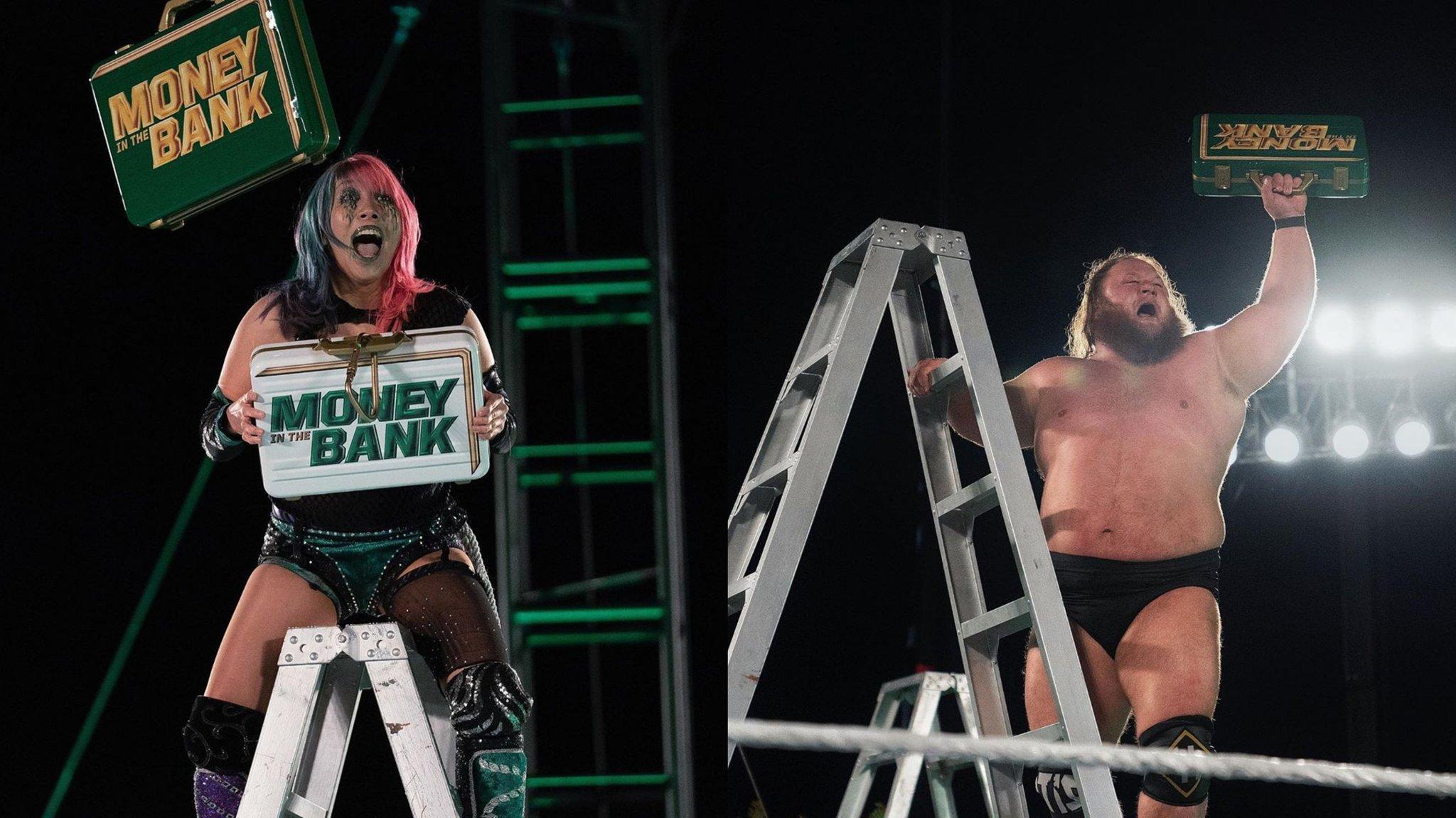 Asuka y Otis ganan los maletines en WWE Money in the Bank 2020 / WWE