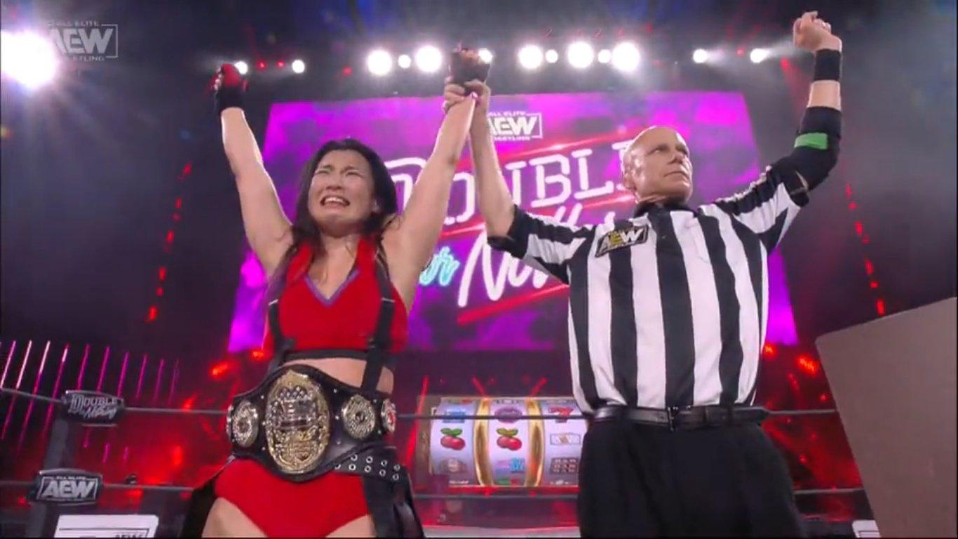 AEW Double or Nothing 2020: Hikaru Shida es la NUEVA Campeona Mundial AEW 1