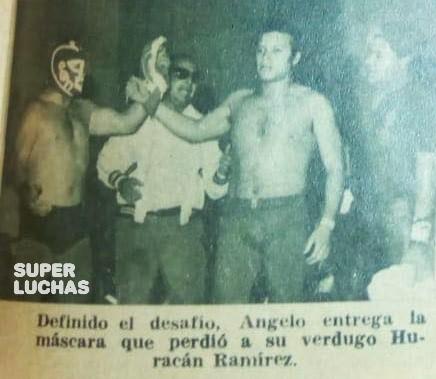 Huracán Ramírez vs. Blue Angelo, Arena Bravo 24/07/1974