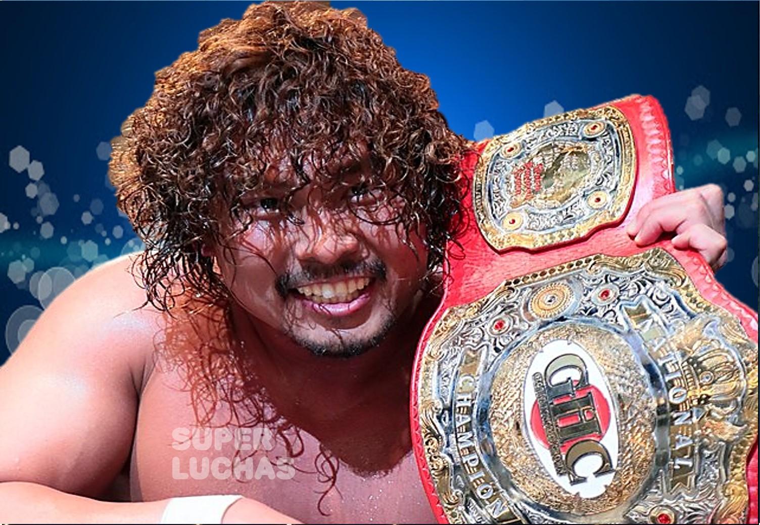 """NOAH: """"GHC National Title Sugiura vs. Nakajima"""" Nakajima se corona 1"""