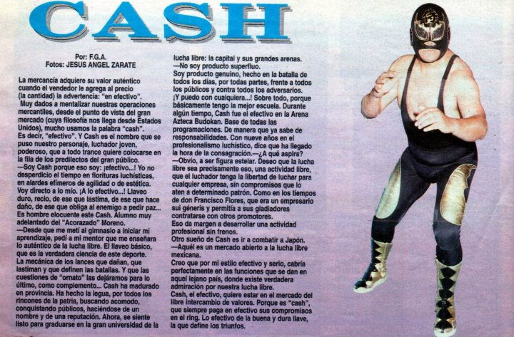 Otra semana fatídica en la lucha libre mexicana: Cash (QEPD)